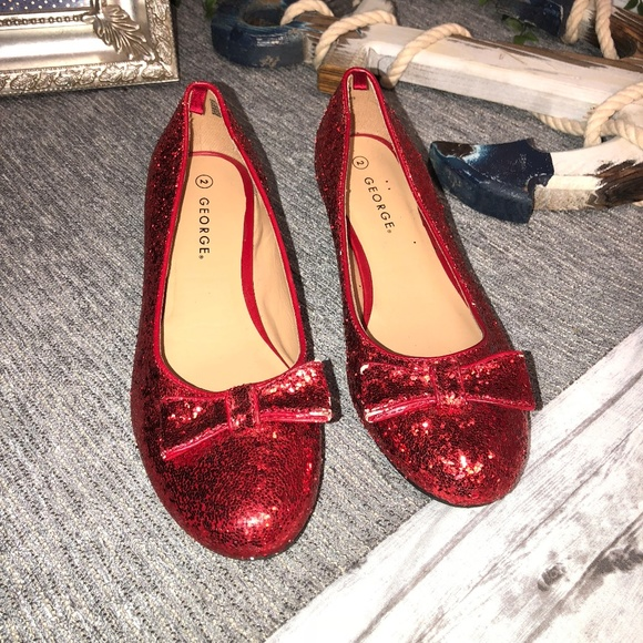 eb38f012208 George Other - Size 2 Red Glitter Heels Dorothy Wizard of Oz
